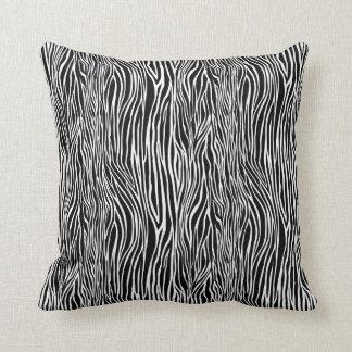 Black & White Animal Print Zebra Pattern Pillow