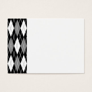 Black White Argyle Business Card