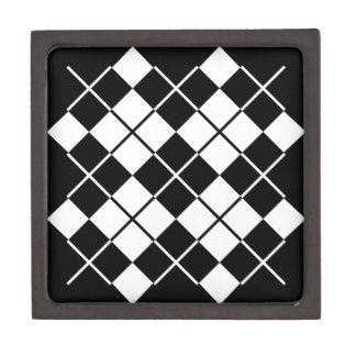 Black-White Argyle Jewelry Box