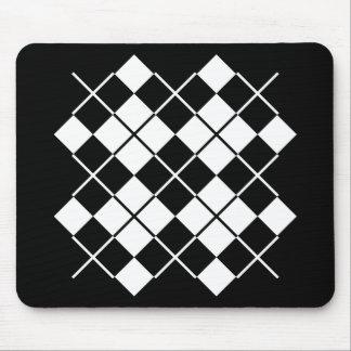 Black-White Argyle Mouse Pad