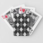 Black & White Argyle Pattern Playing Cards