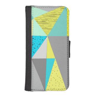 Black & White Arrow Diamond Geometric Pattern iPhone SE/5/5s Wallet Case