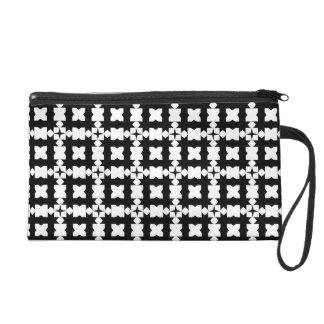 Black White Art Deco Bagettes Wristlet Bag