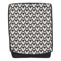 Black & White Art Deco Noir Pattern Backpack