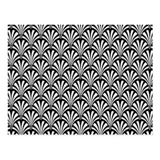 Black & White Art Deco Pattern Postcard