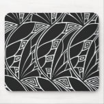 Black & White Art Nouveau Mousepad