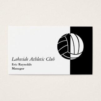 Black White Athletic Ball Logo Business Card