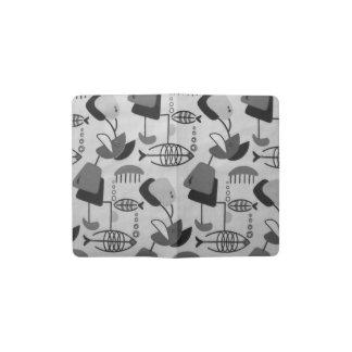 Black & White Atomic Moleskine Notebook Cover