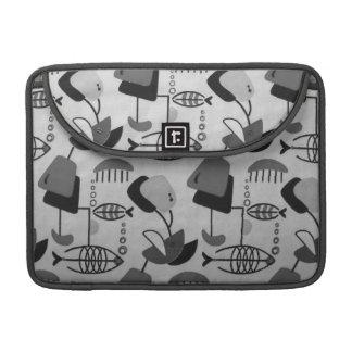 Black & White Atomic Patten MacBook Pro Sleeve