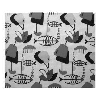 Black & White Atomic Pattern Photo Enlargement