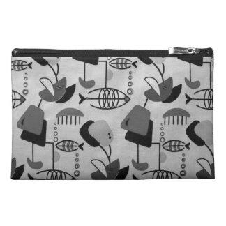 Black & White Atomic Pattern Travel Accessory Bag