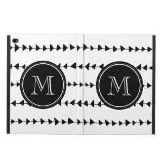 Black White Aztec Arrows Monogram Powis iPad Air 2 Case
