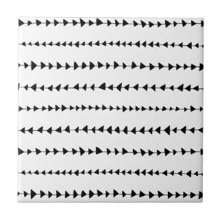 Black White Aztec Arrows Pattern Ceramic Tile