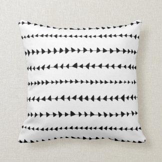 Black White Aztec Arrows Pattern Throw Pillow
