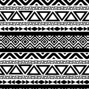 Black And White Aztec Tribal Pattern Kitchen & Dining Supplies | Zazzle