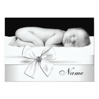 Black White Baby Photo Birth Announcements