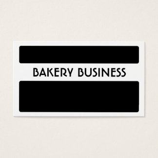 Black white bakery business cards