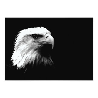 Black & White Bald American Eagle Invitation
