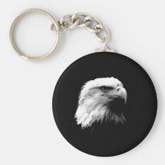 Black & White Bald Eagle Keychain