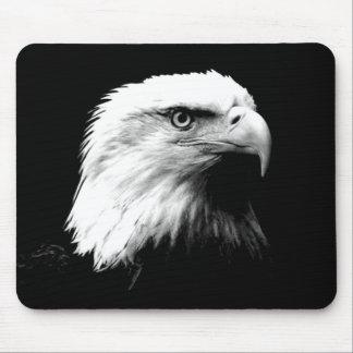 Black & White Bald Eagle Mouse Pad