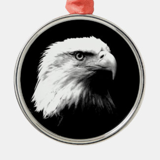 Black & White Bald Eagle Christmas Tree Ornament