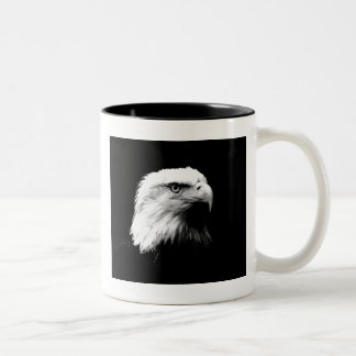 Black & White Bald Eagle Two-Tone Coffee Mug