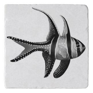 Black White Banggai Cardinalfish Trivet