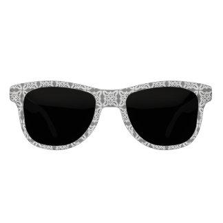 Black White Baroque Design Sunglasses