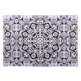 Black White Baroque Lace Placemat