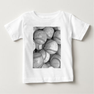 Black & White Baseball Baby T-Shirt
