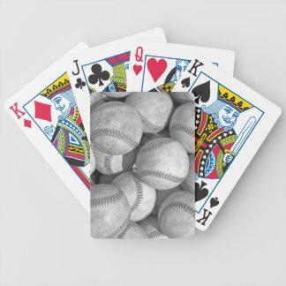 Black & White Baseball Bicycle Playing Cards