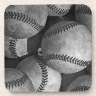 Black & White Baseball Coaster