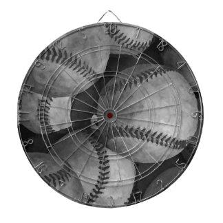 Black & White Baseball Dart Boards