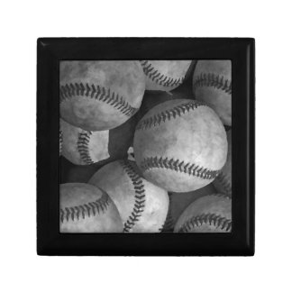 Black & White Baseball Keepsake Box