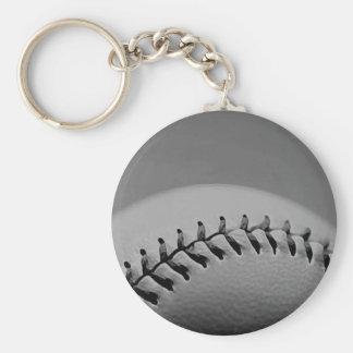 Black & White Baseball Keychain