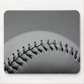 Black & White Baseball Mouse Pad