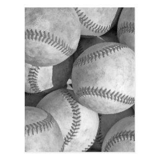 Black & White Baseball Post Cards