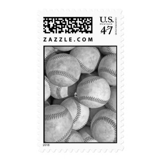 Black & White Baseball Postage Stamps