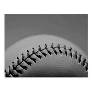 Black & White Baseball Postcard
