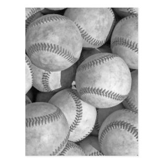 Black & White Baseball Postcard