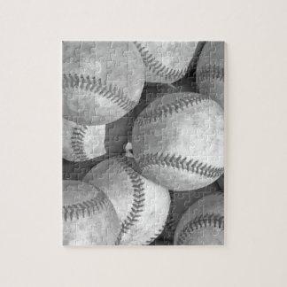 Black & White Baseball Jigsaw Puzzle