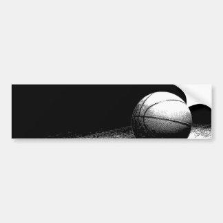Black White Basketball Art Bumper Sticker