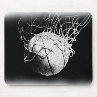 Black & White Basketball Art Mouse Pad
