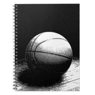 Black White Basketball Art Notebook