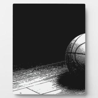 Black White Basketball Art Plaque