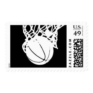 Black & White Basketball Artwork Stamp