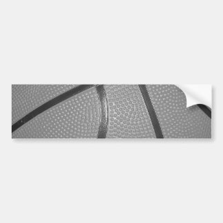 Black & White Basketball Bumper Sticker