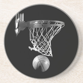 Black & White Basketball Coaster