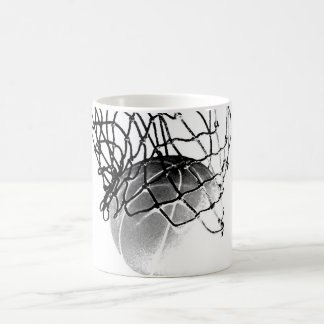 Black & White Basketball Coffee Mug