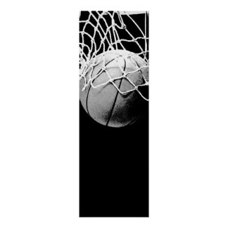 Black White Basketball Door Poster